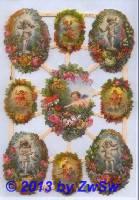 Engel mit Blumenkranz ohne Glimmer