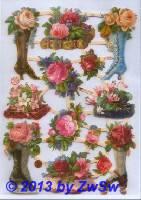 Blumenstiefel ohne Glimmer