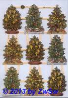 9 Tannenbäume ohne Glimmer