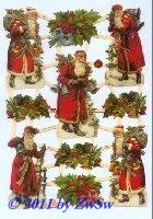 Weihnachtsmann mit Glocke ohne Glimmer