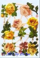 Gelbe Rosen ohne Glimmer