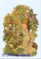 Schmuckkarte Mädchen mit Blumen
