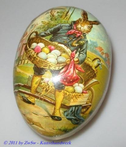 Hase mit Eierkorb, 9cm