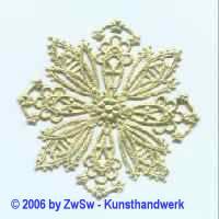Rosette 6 gold 1 Stück