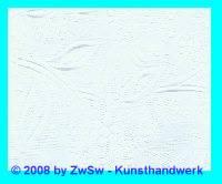 Handgefertigtes Papier in weiß mit Prägung