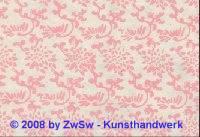 Handgefertigtes Papier natur/pink