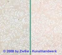 Hangefertigtes Papier beige mit Blumen