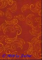Handgefertigtes Papier Paisleymuster rot