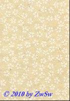 Handgefertigtes Papier natur/Blumen