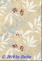 Handgefertigtes Papier natur silber/weiß/rot