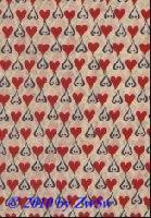 Handgefertigtes Papier Herzen rot/blau