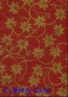 Handgefertigtes Papier rot/gold