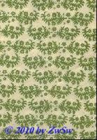 Handgefertigtes Papier mit Blütenranke grün