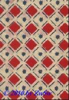 Handgefertigtes Papier natur/blau/rot