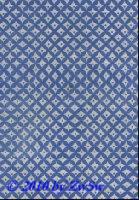 Handgefertigtes Papier weiß/blau