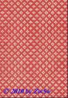 Handgefertigtes Papier rot/weiß