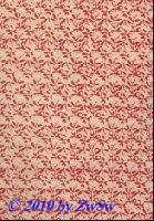 Handgefertigtes Papier natur mit Blüten rot