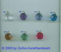 1 Gekettelte Acrylglasperle in kristall 12mm