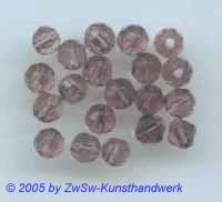 Glasperlen 20 Stück amethyst, Ø 4mm