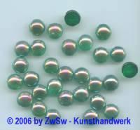 Muggelstein smaragd/AB, Ø 8,5mm, 1 Stück