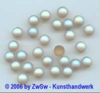Muggelstein bernstein/AB gefrostet, Ø 7mm, 1 Stück