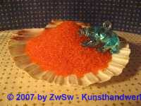 Rocailles 2 mm orange/transparent 20 g