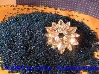 Rocailles 3 mm dunkelblau 20 g