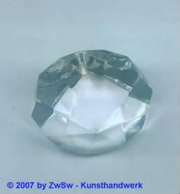 1 Lüsterstein in kristall, Ø 30mm
