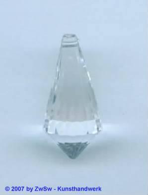 Lüstertropfen kristall, Länge 30mm