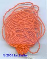 Rocailleperlen 12 Strang, orange