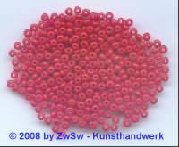 4 mm Rocailleperlen hellrot 20 Gramm