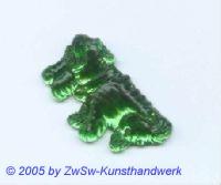 Hund als Strass 1 Stück, 3cm (smaragd)