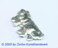 Hund als Strass 1 Stück, 3cm (kristall)