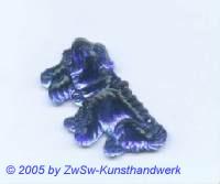 Hund als Strass 1 Stück, 3cm (dunkelblau)
