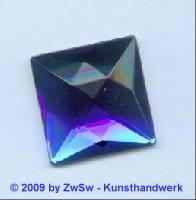 Quadrat, 25mm x 25mm, dunkelblau