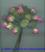 Röschen mit Blätter rosa