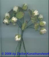 Röschen mit Blätter creme