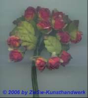 Röschen mit Blätter in rot