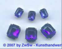1 Schmuckstein gef. blau 8mm x 6mm silber