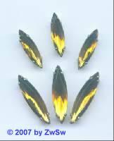 1 Schmuckstein gef. topas 18mm x 5mm silber