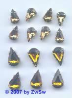 1 Schmuckstein gef. apricot 10mm x 6mm silber