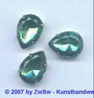 1 Schmuckstein gef.hellgrün 18mm x 13mm silber