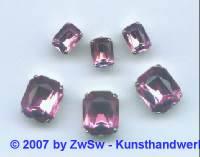 Schmuckstein gefasst rosa 1 Stück 8mm x 6mm