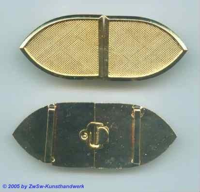 Gürtelschnalle gold 1 Stück