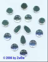 Aufnähset kristall/blau