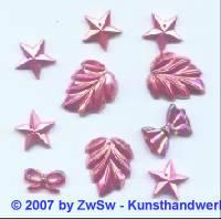 Acrylglasset zum aufnähen pink/AB
