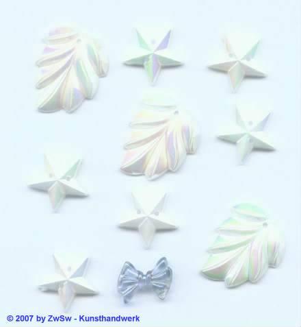 Acrylglasset zum aufnähen in weiß/AB