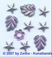 Acrylglasset zum aufnähen lila/AB