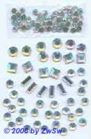 1 Set aus kristall/AB Steinchen