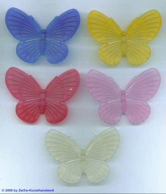 Schmetterling aus Acrylglas blau/mattiert